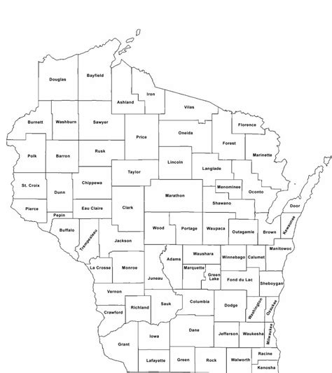 wi county map wisconsin county map with county names free