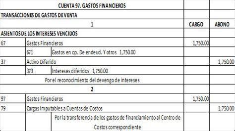 gastos de cuenta balance contables para las cuentas del elemento 9 2 2
