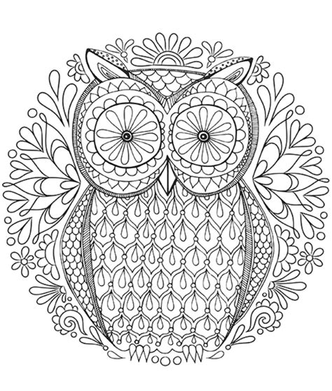 Owl Mandala Coloring Page owl coloring pages for adults bestofcoloring