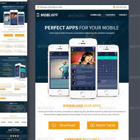 apps email templates mobile apps multipurpose e newsletter template by