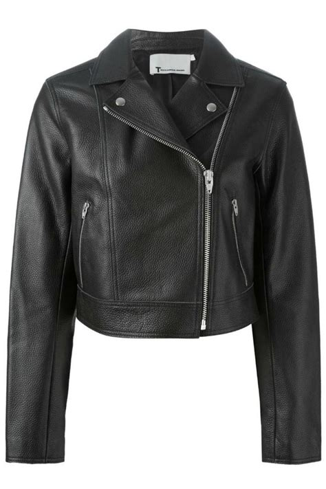 by alexander wang womens leather top style styles t by alexander wang pebbled leather jacket from canada by
