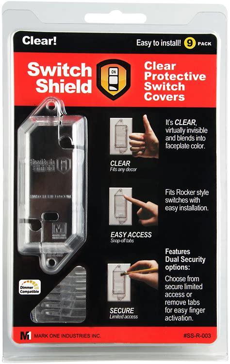 light switch lock guard light switch lock guard 3 clear shields rocker flat