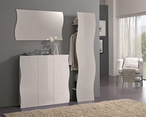 mobile ingresso bianco appendiabiti moderno goccia guardaroba ingresso mobile