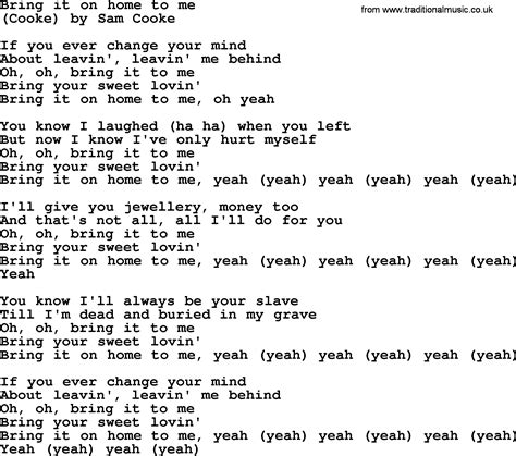 bruce springsteen song bring it on home to me lyrics