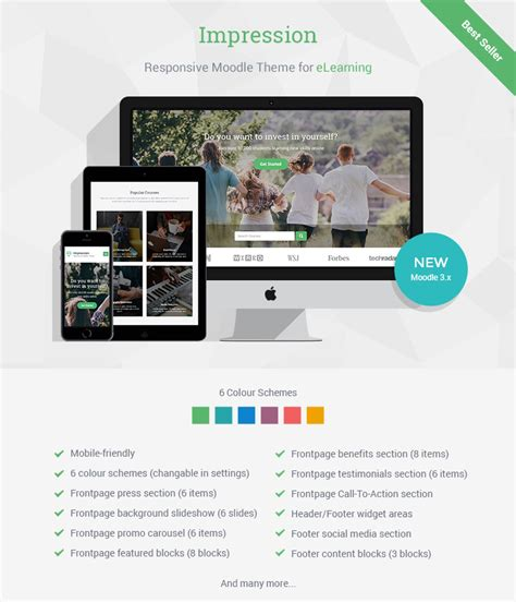 theme moodle buy impression responsive moodle theme for businesses