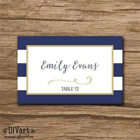 Free Nautical Place Card Template by Nautical Place Cards Cards Food Labels Printable