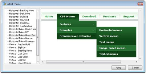 design drop down menu css ajatix advanced css drop down menu dreamweaver extension