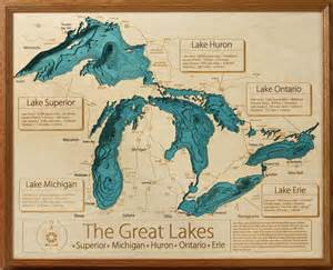 3d laser carved wood lake maps lakehouse lifestyle