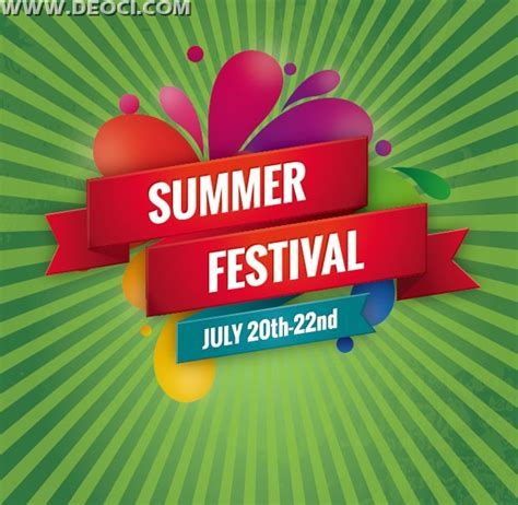 promotional poster template vector summer promotional posters label design templates