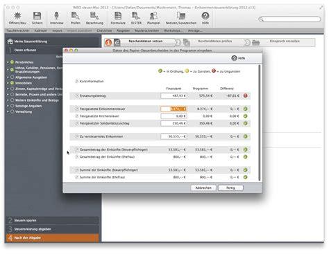 Nachzahlung Musterschreiben Wiso Steuer Mac 2013 F 252 R Steuerjahr 2012 De Software