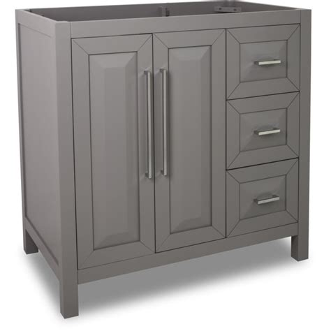 36 inch bathroom vanity cabinets jeffrey alexander van100 36 grey cade contempo collection