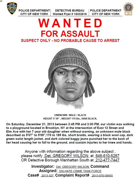 nypd looking for suspect wanted in assault in flatbush