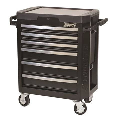 kincrome 6 drawer tool box stealth tool trolley 6 drawer tool boxes storage 85