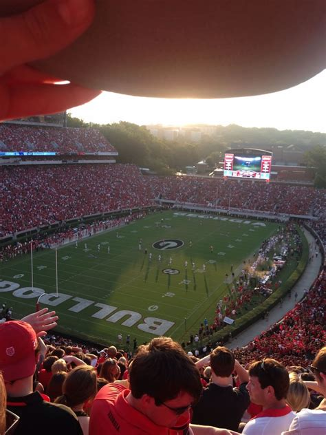 sanford stadium student section sanford stadium section 316 rateyourseats com
