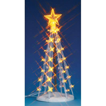 lemax lights 6 quot lemax lighted medium silhouette tree accessory clear lights 74660