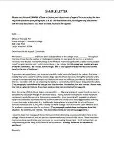 Scholarship Letter Of Appeal Cover Letter For Financial Aid Appeal
