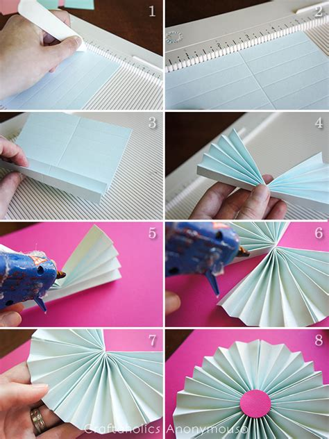 How To Make Paper Fan Circles - craftaholics anonymous 174 paper fan garland tutorial
