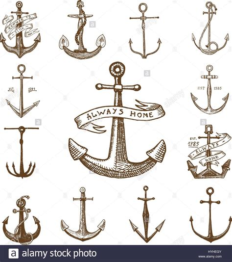 boat anchor drawing nautical anchor drawing www pixshark images