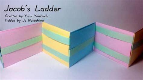 How To Make A Paper Ladder - origami jacob s ladder yami yamauchi