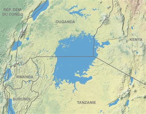 worlds largest lakes map which is the largest lake in africa