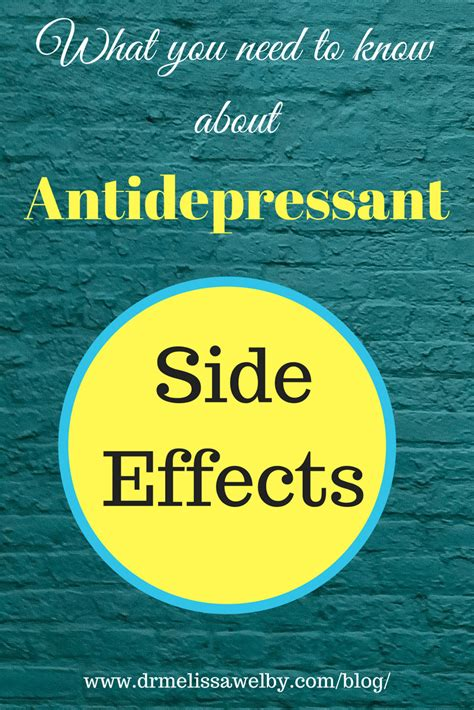 antidepressant side effect 8 facts about common side effects of antidepressants