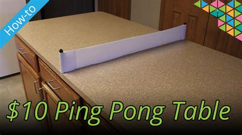 How To Make A Pong Table by How To Make A Ping Pong Table For 10