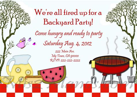bbq invitation template best template collection