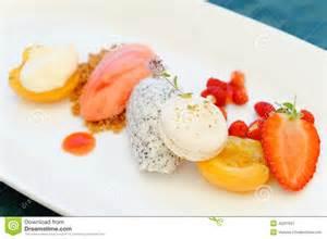 fine dining dessert stock photo image 42297937