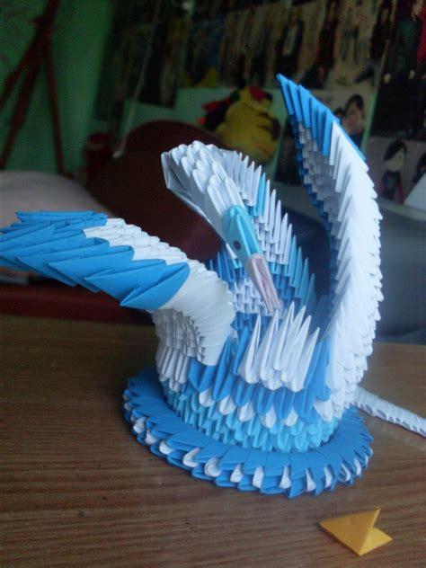 origami 3d lebada tutorial hartie modelata origami 3d lebada 3d