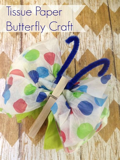 How To Make A Butterfly Out Of Tissue Paper - diy tissue paper butterflies family