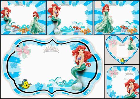 printable birthday invitations ariel the little mermaid free printable invitations cards or
