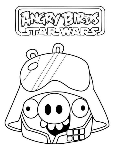 angry birds anakin coloring page coloring page angry birds star wars star wars pig fun