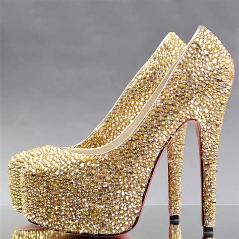 gold rhinestone high heels popular gold rhinestone heels buy cheap gold rhinestone