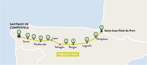 camino de santiago official website camino frances map camino way map official