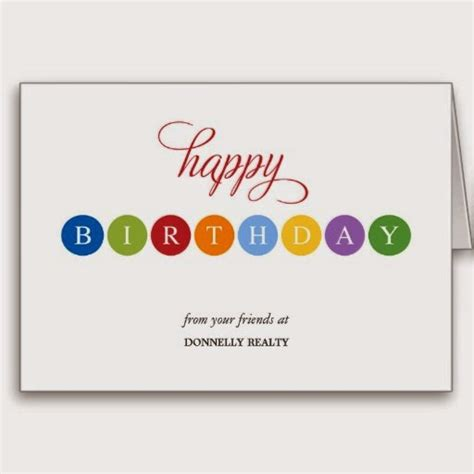 Business Happy Birthday Cards Chriss Card Craft