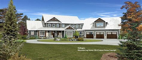 wellington log home floor plan from wisconsin log homes