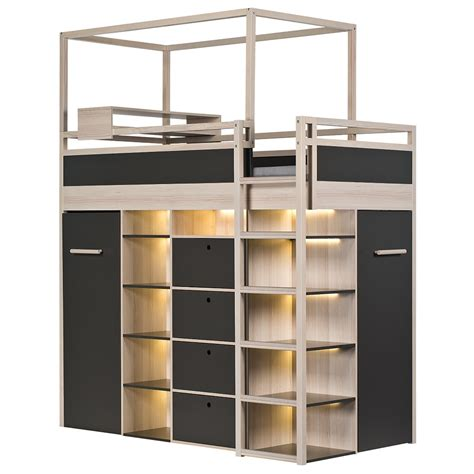 Mid Sleeper With Wardrobe And Drawers by 70 High Sleeper With Wardrobe And Drawers