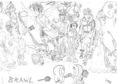 free coloring pages of super smash bros brawl