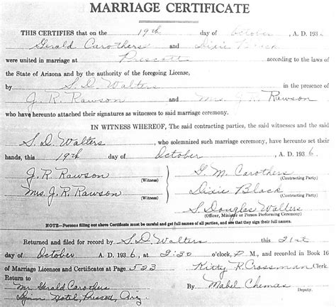 Marriage License Records Arizona Free Copy Of Marriage License Images