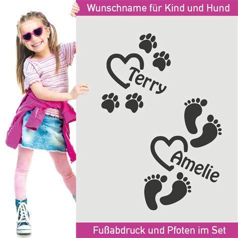 Aufkleber Baby Fussball by Aufkleber Fu 223 Abdr 252 Cke Wunschname Hund Baby Name F 252 223 E Fu 223 Tatze
