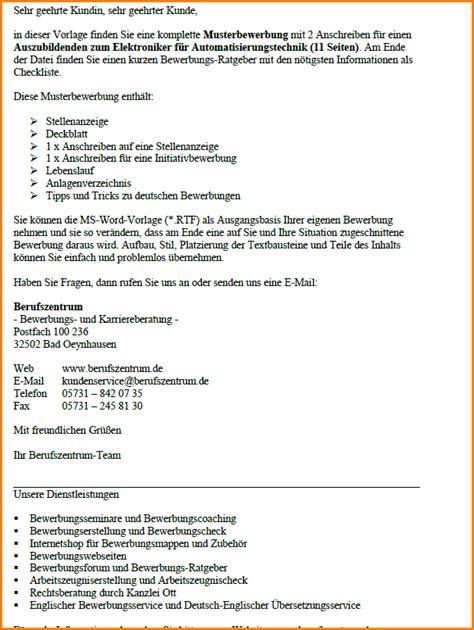Anschreiben Ausbildung Elektroniker Fur Betriebstechnik 6 Bewerbung Elektroniker Questionnaire Templated