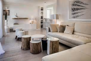 Rustic Contemporary Decor Tree Trunk Decor Ideas Tables Stools Mirrors And