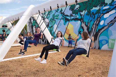 musical swings the musical swings in downtown west palm palm beach on