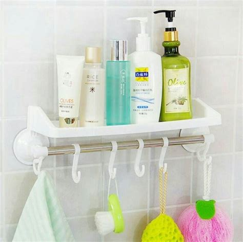 Rak Handuk Plastik 36 model rak kamar mandi minimalis kecil tempat sabun