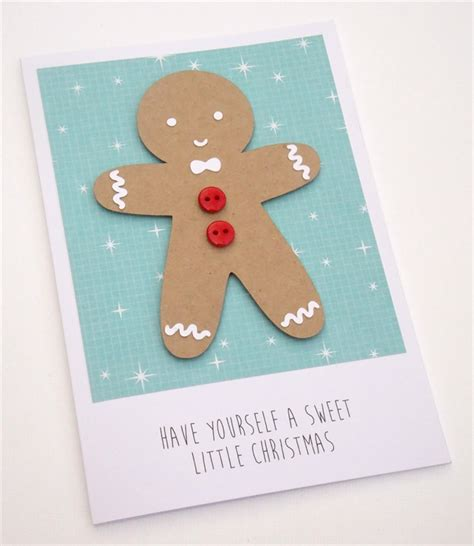 free printable christmas card with gingerbread man handmade christmas card gingerbread man avaday