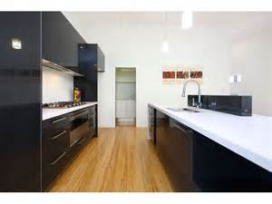 Modern Galley Kitchen Designs Modern Galley Kitchen Design Using Floorboards Kitchen Photo 881215