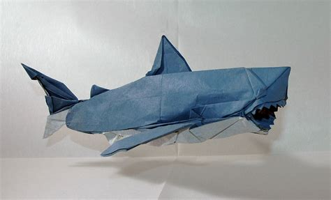 Origami Great White Shark - magnificent origami sharks to celebrate shark awareness day
