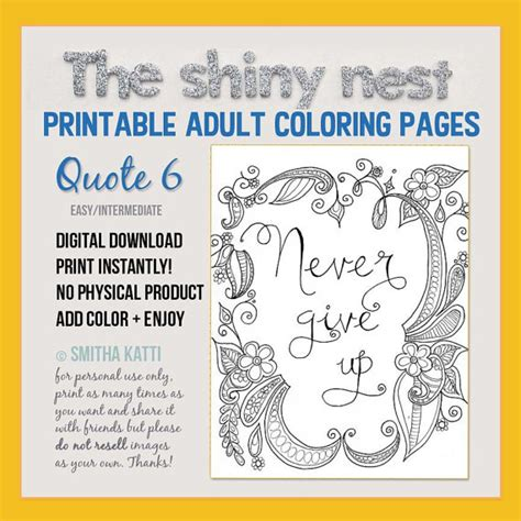 Printable Mindfulness Quotes | mindfulness coloring pages printable quote adult colouring