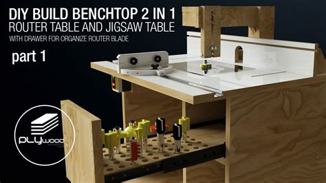 build  benchtop    router table  jigsaw table