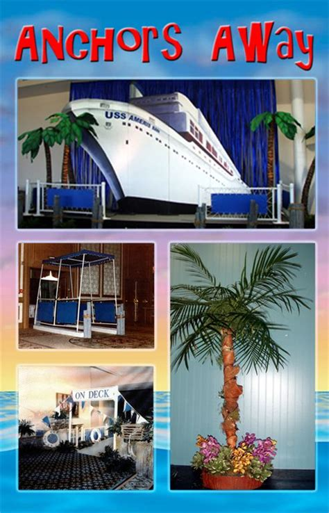 cruise ship themed centerpieces on a romantic cruise